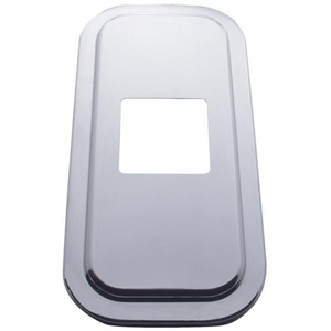"""21733B by UNITED PACIFIC - Peterbilt Stainless Shift Plate Cover - 4 7/8"""" x 4 13/16"""" Opening"""