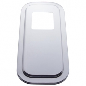 """21734B by UNITED PACIFIC - Peterbilt Stainless Shift Plate Cover - 4 3/4"""" x 4 3/4"""" Opening"""
