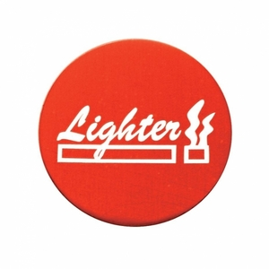 23060-2R by UNITED PACIFIC - Aluminum Cigarette Lighter Knob Sticker Only - Red
