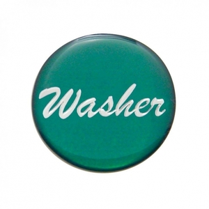 """23208-1G by UNITED PACIFIC - """"Washer"""" Glossy Dash Knob Sticker Only - Green"""