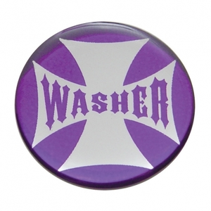 """23208-2P by UNITED PACIFIC - """"Washer"""" Maltese Cross Dash Knob Sticker Only - Purple"""