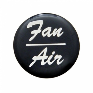 """23249-1K by UNITED PACIFIC - """"Fan/Air"""" Glossy Dash Knob Sticker Only - Black"""