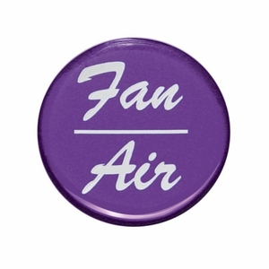 """23249-1P by UNITED PACIFIC - """"Fan/Air"""" Glossy Dash Knob Sticker Only - Purple"""