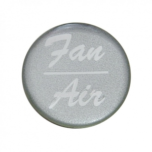 """23249-1S by UNITED PACIFIC - """"Fan/Air"""" Glossy Dash Knob Sticker Only - Silver"""