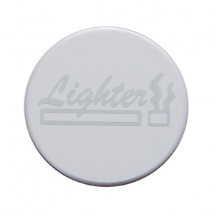 """23378-8 by UNITED PACIFIC - """"Lighter"""" Stainless Dash Knob Plaque Only"""