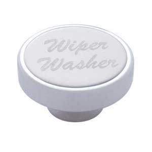 "23535 by UNITED PACIFIC - ""Wiper/Washer"" Dash Knob - Stainless Plaque"