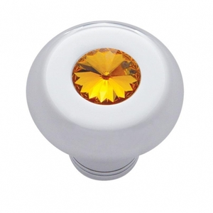 23582 by UNITED PACIFIC - Small Deluxe Dash Knob w/ Amber Diamond