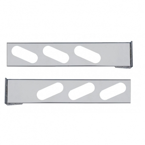 30227 by UNITED PACIFIC - Flange Mount Rear Light Bar - Oval Cutouts