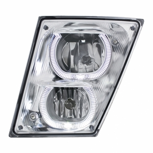 32648 by UNITED PACIFIC - 2003+ Volvo VN/VNL Fog/Driving Light w/ White LED Light Bar - Driver