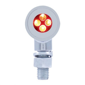37153 by UNITED PACIFIC - 4 LED Mini Bullet Marker Light - Red