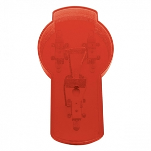 37889 by UNITED PACIFIC - Kenworth Emblem Light - Red