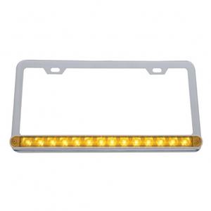 39743 by UNITED PACIFIC - 14 LED Light Bar License Frame  - Amber LED/Amber Lens