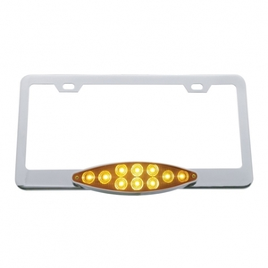 39883 by UNITED PACIFIC - 10 LED Cats Eye License Frame - Amber LED/Amber Lens