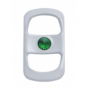42052 by UNITED PACIFIC - Freightliner Rocker Switch Cover - Green Diamond