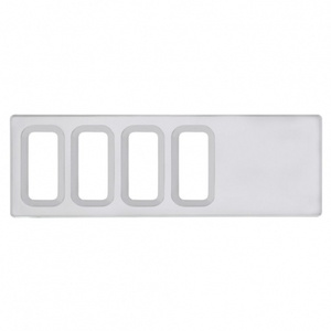42217 by UNITED PACIFIC - International Dash Switch Panel Cover - 4 Openings