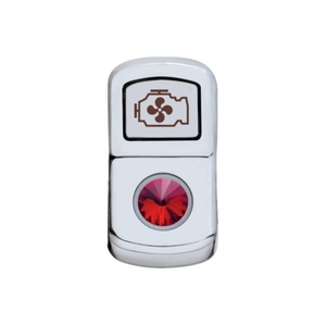 "45087 by UNITED PACIFIC - ""Engine Fan"" Rocker Switch Cover - Red Diamond"