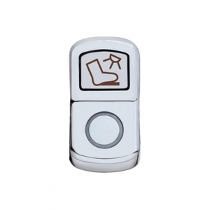 "45088 by UNITED PACIFIC - ""Floor Light"" Rocker Switch Cover - Plain"