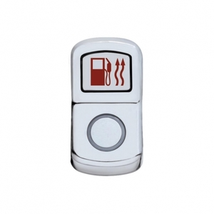 "45112 by UNITED PACIFIC - ""Fuel Heat"" Rocker Switch Cover - Plain"