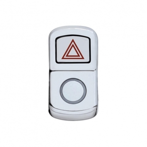 "45120 by UNITED PACIFIC - ""Hazard"" Rocker Switch Cover - Plain"