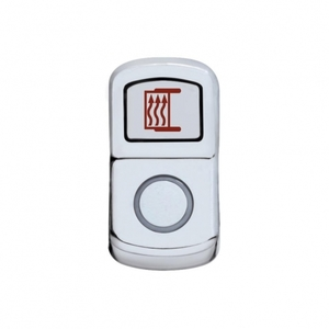 "45144 by UNITED PACIFIC - ""Mirror Heat"" Rocker Switch Cover - Plain"