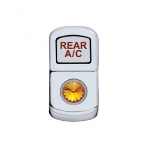 "45170 by UNITED PACIFIC - ""Rear A/C"" Rocker Switch Cover - Amber Diamond"