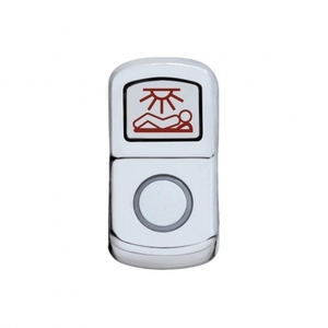 "45184 by UNITED PACIFIC - ""Sleeper Light"" Rocker Switch Cover - Plain"