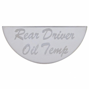 48048 by UNITED PACIFIC - Peterbilt Gauge Plate - Rear Driver Oil Temp