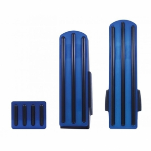 70289 by UNITED PACIFIC - Kenworth Blue Anodized Pedal Set - Black Insert