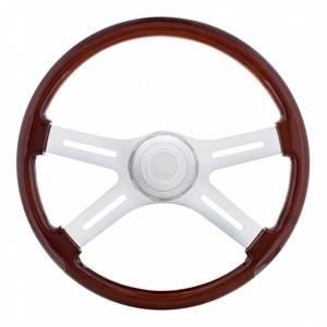 """88130 by UNITED PACIFIC - 18"""" 4 Spoke Steering Wheel - Freightliner 1989-July 2006"""