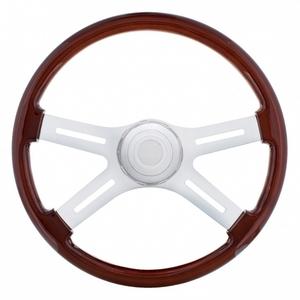 """88136 by UNITED PACIFIC - 18"""" 4 Spoke Steering Wheel - Peterbilt 98+, Kenworth 01+"""