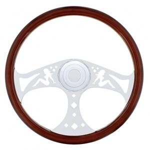 """88141 by UNITED PACIFIC - 18"""" Lady Steering Wheel - Peterbilt 98+, Kenworth 01+"""