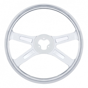 """88210 by UNITED PACIFIC - 18"""" Stainless Steering Wheel"""