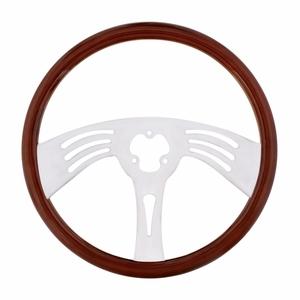 "88214 by UNITED PACIFIC - 18"" Chrome Steering Wheel - 3 Spoke"
