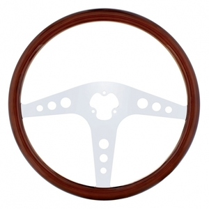 """88221 by UNITED PACIFIC - 18"""" Chrome Steering Wheel - GT"""