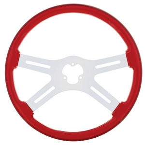 """88225 by UNITED PACIFIC - 18"""" Steering Wheel - Red"""