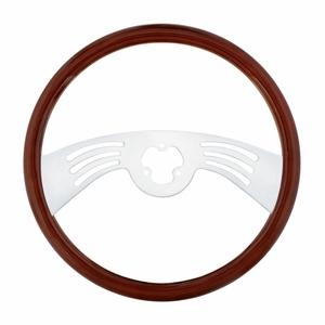 "88239 by UNITED PACIFIC - 18"" Chrome Steering Wheel - 2 Spoke"