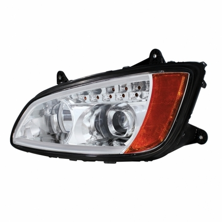 31517 by UNITED PACIFIC - Chrome Kenworth T660 Projection Headlight Assembly - Driver