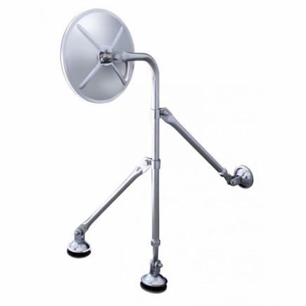 """60036 by UNITED PACIFIC - Stainless 8 1/2"""" Tripod Fender Mirror"""