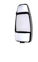 714992 by VELVAC - Velvac RV Chrome Triple Glass Mirror Head Only, Passenger Side