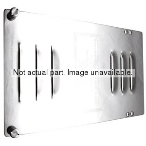 10503 by UNITED PACIFIC - Chrome 1 License Plate Angled Holder w/ Running Ligh Cutout